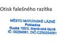 Falešné razítko města Mariánské Lázně
