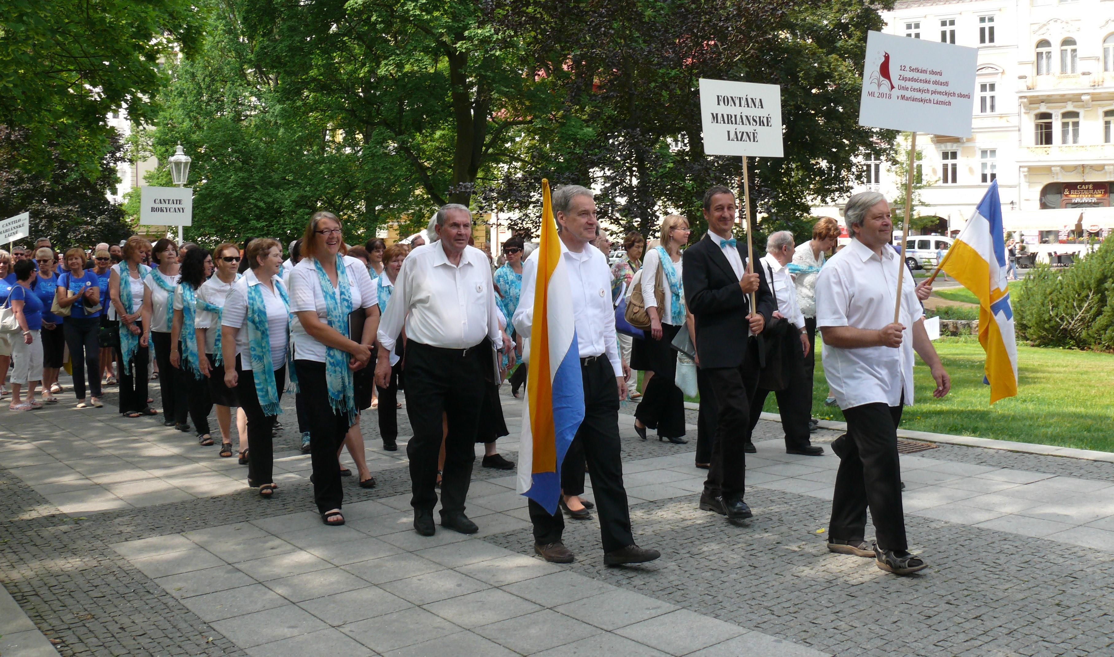 Setkání sborů: 300 hlasů rozeznělo Mariánské Lázně
