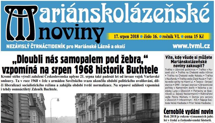 Mariánskolázeňské noviny 16/2018