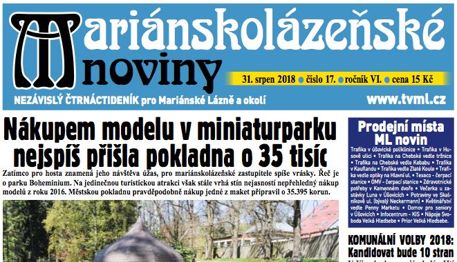 Mariánskolázeňské noviny 17/2018
