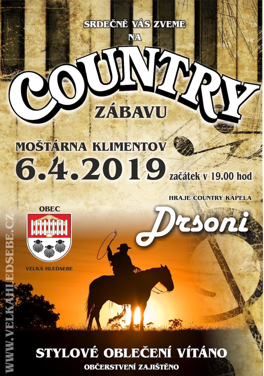 Pozvánka: Country zábava