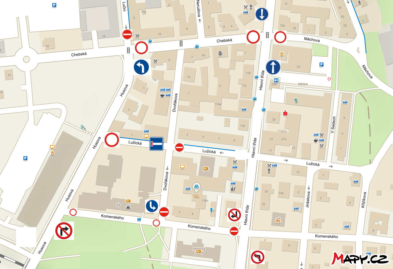 Nové dopravní omezení – situační mapa